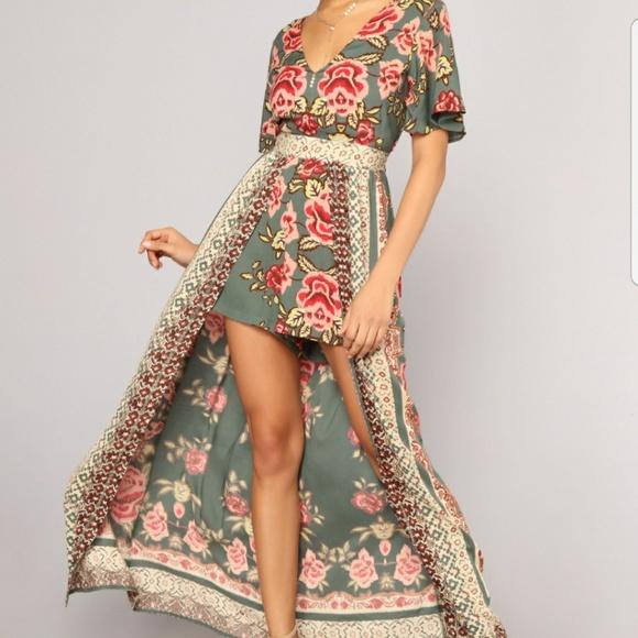 6437861ebc19 Fashion Nova Pants - ☆ BOHO Maxi Romper - Olive PLUS SIZE